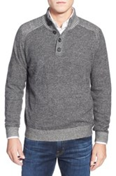 Toscano Plaited Mock Neck Sweater Gray