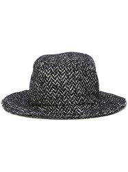 Dolce And Gabbana Tweed Hat Black