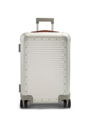 Fabbrica Pelletterie Milano Spinner 53 Stud Embellished Cabin Suitcase Silver