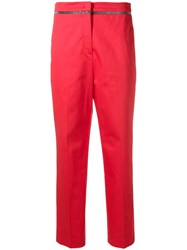 Fabiana Filippi Cropped Straight Leg Trousers Red