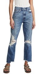 Good American Vintage Jeans With Side Step Blue402
