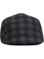 Paul Smith Checked Flap Cap Grey