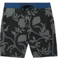 Outerknown Long Length Printed Shell Swim Shorts Black