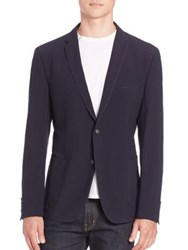 Strellson Front Button Jacket Navy