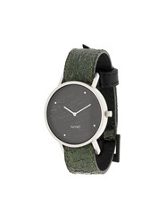 South Lane Avant Raw Watch Calf Leather Stainless Steel Green