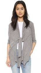 Bobi Draped Cardigan Grey