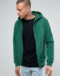 Weekday Bom Basic Zipthru Hooded Sweatshirt 96 304 Green