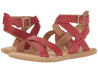 Born Kindu Red Full Grain Women's Dress Sandals