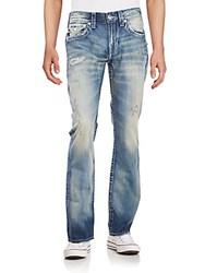 True Religion Distressed Washed Jeans Crank