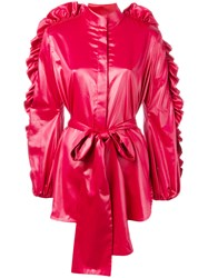 Ellery Ruffled Sleeves Jacket Red
