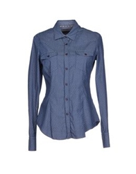 Manuel Ritz Denim Shirts Blue