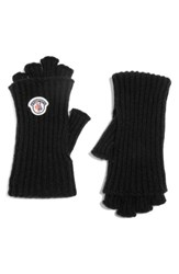 Moncler Women's Guanti Wool And Cashmere Long Fingerless Gloves Black