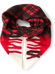 Golden Goose Deluxe Brand Plaid Print Scarf Black