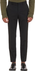 Tim Coppens Leather Trim Trousers Blue