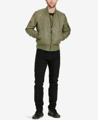 Denim And Supply Ralph Lauren Men's Slim Fit Reversible Bomber Jacket Olive
