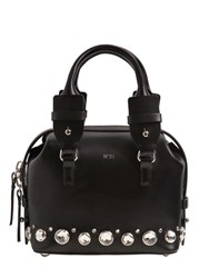 N 21 Shiny Leather Bag W Crystals