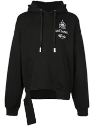 Haculla Guy And His Gun Destroyed Hoodie Black