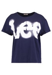 Lee Print Tshirt Navy Dark Blue