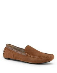 Marc New York Astor Suede Moccasin Loafers Walnut