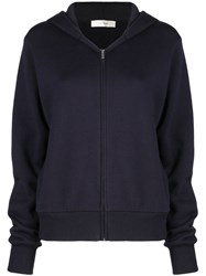 The Row Zip Up Hoodie Blue