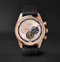 Zenith El Primero Chronomaster 1969 42Mm Rose Gold And Rubber Watch Black
