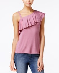 Almost Famous Juniors' Ruffled One Shoulder Top Lilias