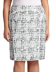 Lafayette 148 New York Plus Size Sylvana Pencil Skirt Frosted Blue