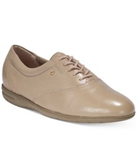 Easy Spirit Motion Flats Women's Shoes Wheat Leather