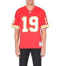 Mitchell And Ness Joe Montana Mesh Jersey Top Red