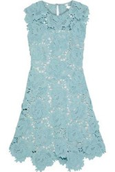 Catherine Deane Fjola Guipure Lace Mini Dress Sky Blue