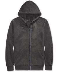 Tavik Men's Zip Up Hoodie Heather Black