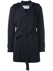 Harris Wharf London Belted Coat Blue