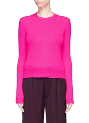 Ms Min Crew Neck Cashmere Sweater Pink
