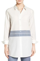 Nordstrom Women's Collection Placed Stripe Tunic Shirt