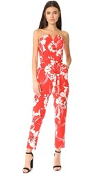 Yumi Kim Hot To Trot Jumpsuit Bay Breeze Red