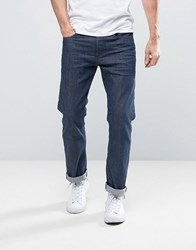 Selected Jeans Slim Fit In Dark Blue Blue