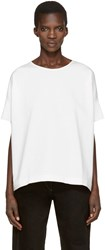 Christophe Lemaire White Loose T Shirt