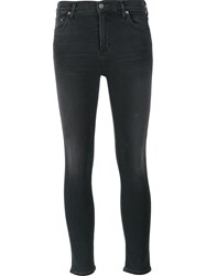 Citizens Of Humanity Mid Rise Skinny Cropped Jeans Grey