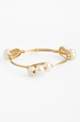 Bourbon And Boweties Small Faux Pearl Bracelet White Sm
