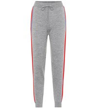 Etre Cecile Striped Merino Wool Track Pants Grey