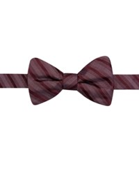 Ryan Seacrest Distinction Sierra Stripe Pre Tied Bow Tie Only At Macy's Red
