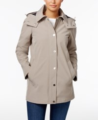Calvin Klein Hooded A Line Raincoat Thistle