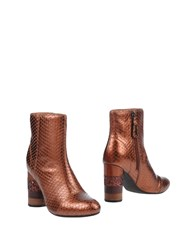 Gioseppo Ankle Boots Copper
