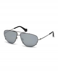 Balenciaga Metal Aviator Sunglasses Gray