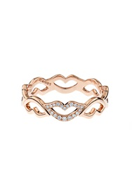 Raphaele Canot Keep Smiling Diamond And Pink Gold Ring