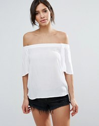 B.Young Funda Off Shoulder Blouse 80100 Optical W White