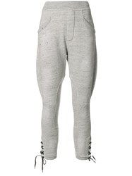 Dsquared2 Lace Up Joggers Grey