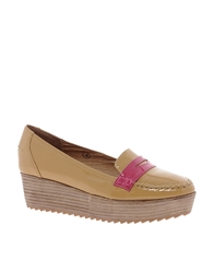 Ravel Tan Raised Loafer Shoes