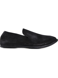 Guidi Distressed Slippers Black