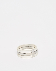 Asos Ring With Cross Insert Silver